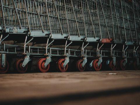 many shopping carts