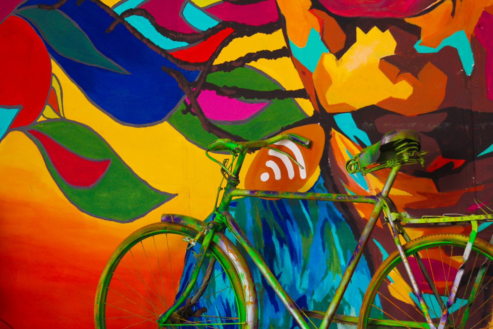 colorful painted bike